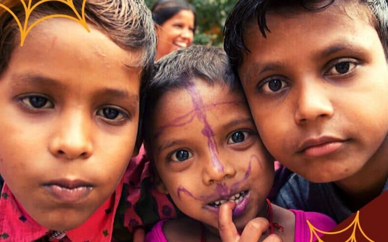 nutrimix dolcetto o scherzetto halloween bambini indiani cini