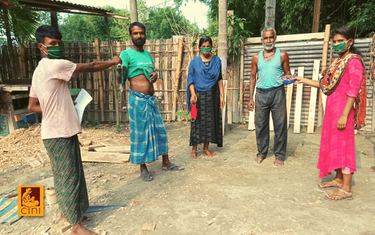cini mascherine fatte a mano solidarietà covid emergenza india