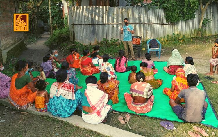 cini india sensibilizzazione prevenzione pandemia covid 19 gruppi auto-aiuto