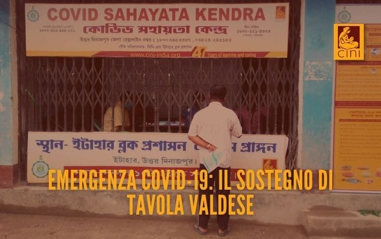 Emergenza COVID-19 sostegno Tavola Valdesee India